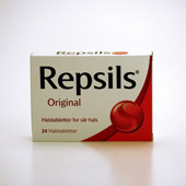 Repsils, the Norwegian neutered version of Strepsils